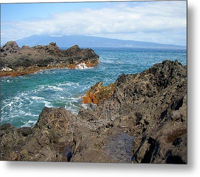 Lava Coastline - West Maui Metal Print