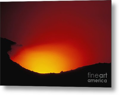 Lava Flows At Night Metal Print by William Waterfall - Printscapes
