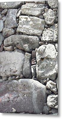 Lava Rock Wall 1 Triptych L Metal Print