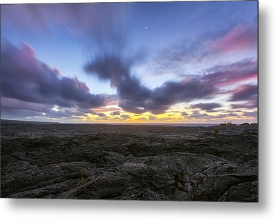 Metal Print featuring the photograph Lava Twilight by Ryan Manuel