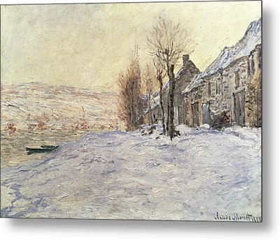 Lavacourt Under Snow Metal Print by Claude Monet