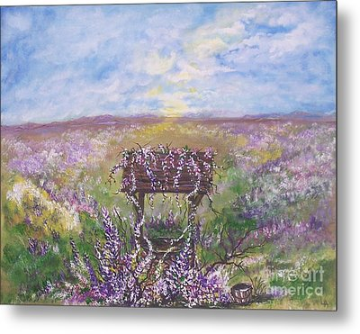 Metal Print featuring the painting Lavendar Wishes by Leslie Allen