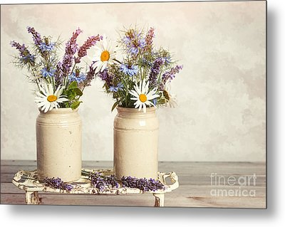 Lavender And Daisies Metal Print by Amanda Elwell