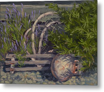 Lavender And Lobster Metal Print by Jane Thorpe