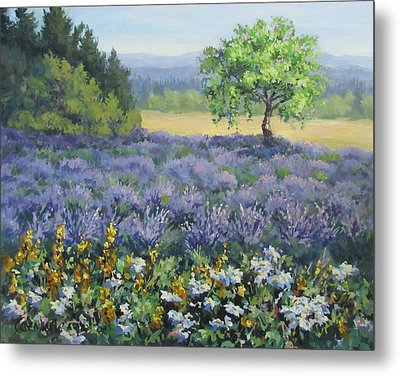 Lavender And Wildflowers Metal Print