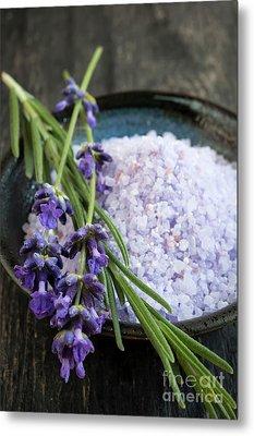 Lavender Bath Salts Metal Print by Elena Elisseeva
