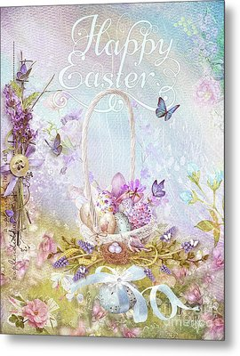 Metal Print featuring the mixed media Lavender Easter by Mo T