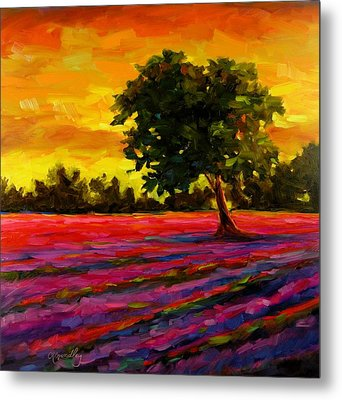 Metal Print featuring the painting Lavender Fire by Chris Brandley