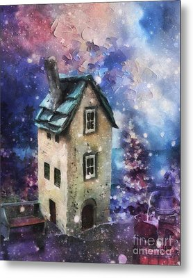 Metal Print featuring the painting Lavender Hill by Mo T