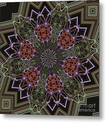 Lavender Mandala 1 Metal Print