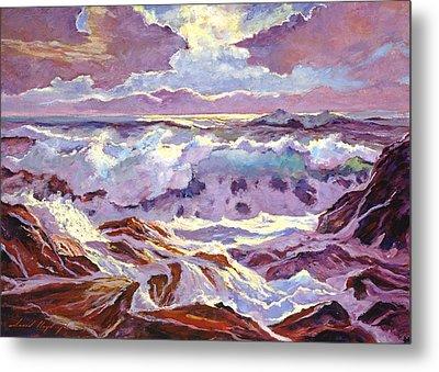 Lavender Ocean Metal Print