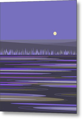 Metal Print featuring the digital art Lavender Reflections by Val Arie