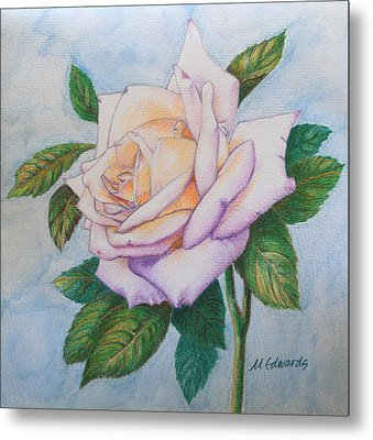 Metal Print featuring the drawing Lavender Rose by Marna Edwards Flavell
