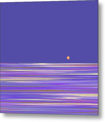Metal Print featuring the digital art Lavender Sea by Val Arie