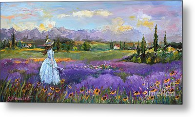 Metal Print featuring the painting Lavender Splendor  by Jennifer Beaudet