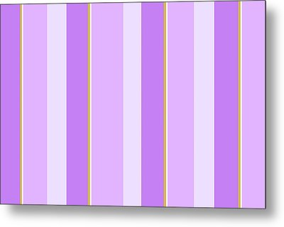 Metal Print featuring the mixed media Lavender Stripe Pattern by Christina Rollo