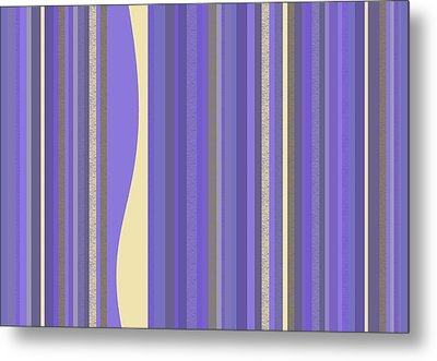 Metal Print featuring the digital art Lavender Twilight - Stripes by Val Arie