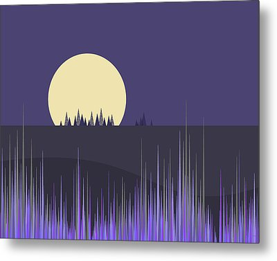 Metal Print featuring the digital art Lavender Twilight by Val Arie