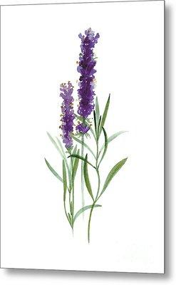 Lavender Watercolor Posters  Metal Print