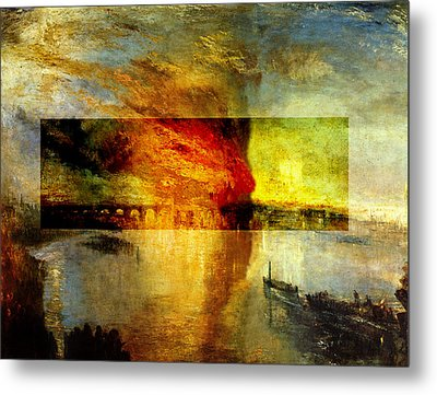 Layered 12 Turner Metal Print