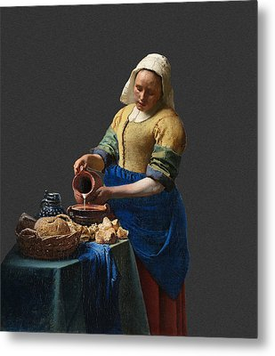Layered 16 Vermeer Metal Print by David Bridburg