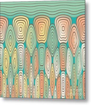Layered Squares Metal Print by Gaspar Avila