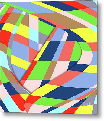 Metal Print featuring the digital art Layers 1 by Bruce Stanfield