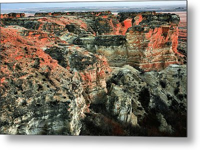 Metal Print featuring the photograph Layers In The Kansas Badlands by Kyle Findley
