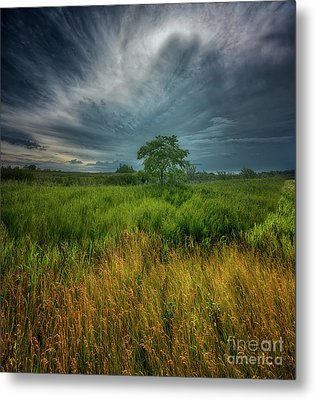 Layers Of Prairie Metal Print