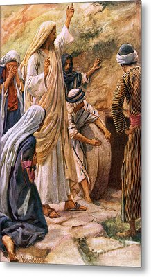 Lazarus, Come Forth Metal Print by Harold Copping