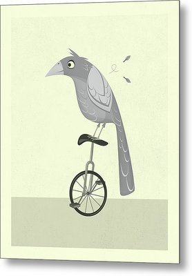 Lazy Bird Metal Print by Jazzberry Blue
