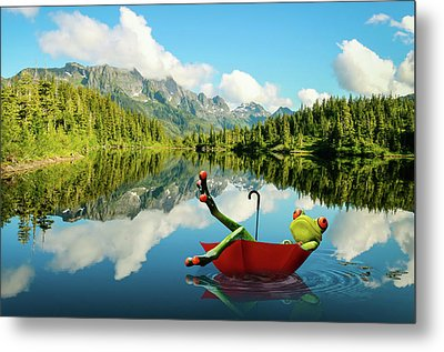 Metal Print featuring the digital art Lazy Days by Nathan Wright