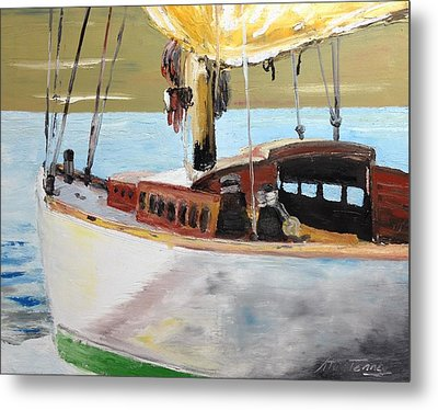 Lazy Sloop Metal Print