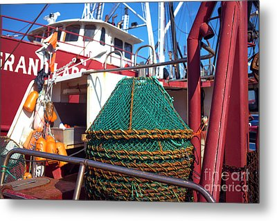 Metal Print featuring the photograph Lbi Green Fishing Nets by John Rizzuto