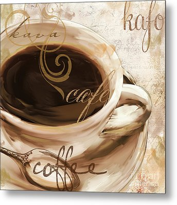 Le Cafe Light Metal Print by Mindy Sommers