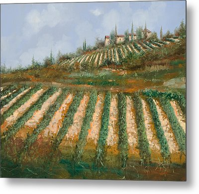 Le Case Nella Vigna Metal Print by Guido Borelli