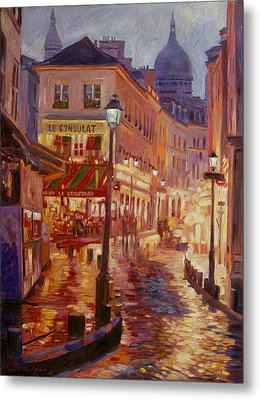 Le Consulate Montmartre Metal Print by David Lloyd Glover