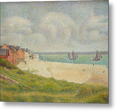 Le Crotoy Looking Upstream Metal Print by Georges Pierre Seurat