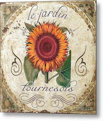 Le Jardin Tournesols  Metal Print by Mindy Sommers