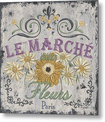 Le Marche Aux Fleurs 1 Metal Print by Debbie DeWitt