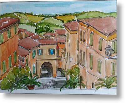 Le Marche, Italy Metal Print by Janet Butler