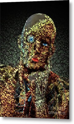 Metal Print featuring the digital art Le Penseur  by Aimelle