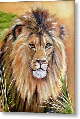 Le Roi-the King, Tribute To Cecil The Lion   Metal Print