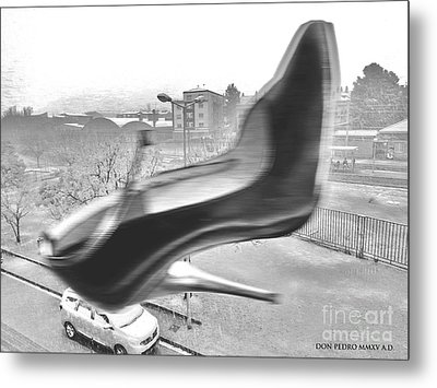 Flying Stiletto Metal Print