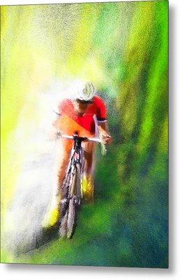 Le Tour De France 12 Metal Print by Miki De Goodaboom