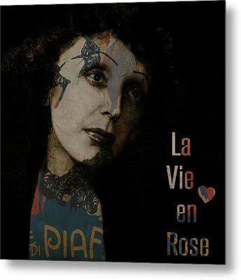Le Vie En Rose  Metal Print