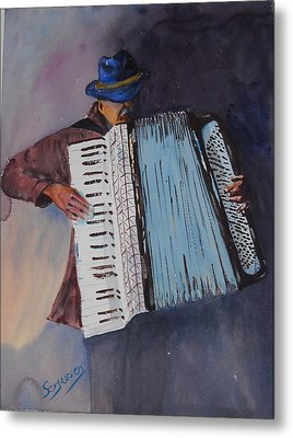 Le Vieil Accordeoniste  The Old Accordion Metal Print by Dominique Serusier