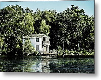 Leacock Boathouse Metal Print