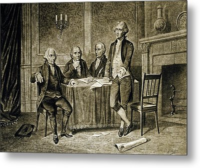 Leaders Of The First Continental Congress Metal Print by Augustus Tholey