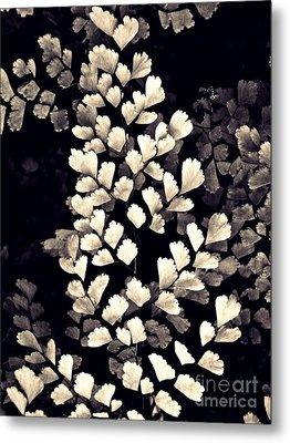 Leaf Abstract 15 Sepia Metal Print by Sarah Loft